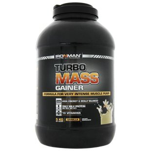 Гейнер IRONMAN Turbo Mass Gainer (5 кг) в банке
